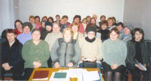 В. И. Егорова в первом ряду вторая слева